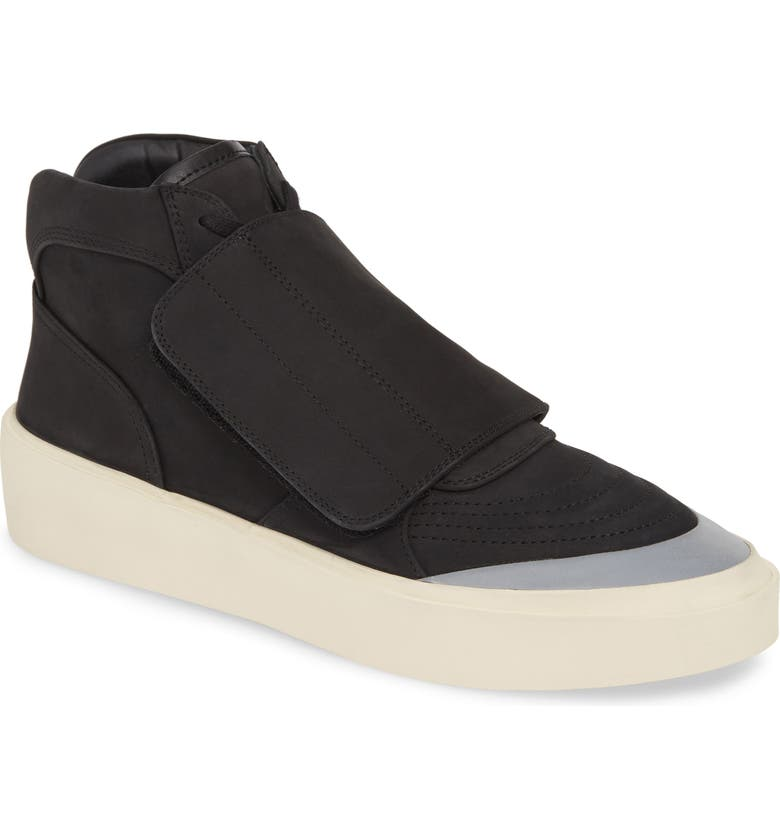 FEAR OF GOD Mid Skate Sneaker, Main, color, BLACK WITH SILVER
