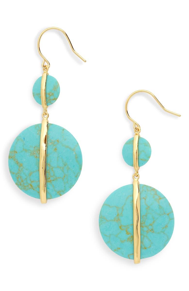 GORJANA Brinn Drop Earrings, Main, color, 440
