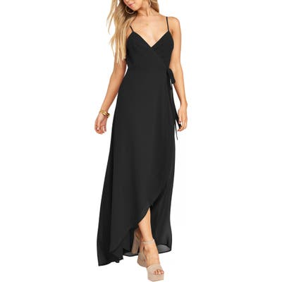 Show Me Your Mumu Mariah Wrap Maxi Dress, Black