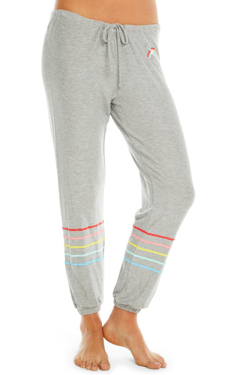 CHASER Rainbow Bolt Knit Lounge Jogger Pants, Main, color, 020