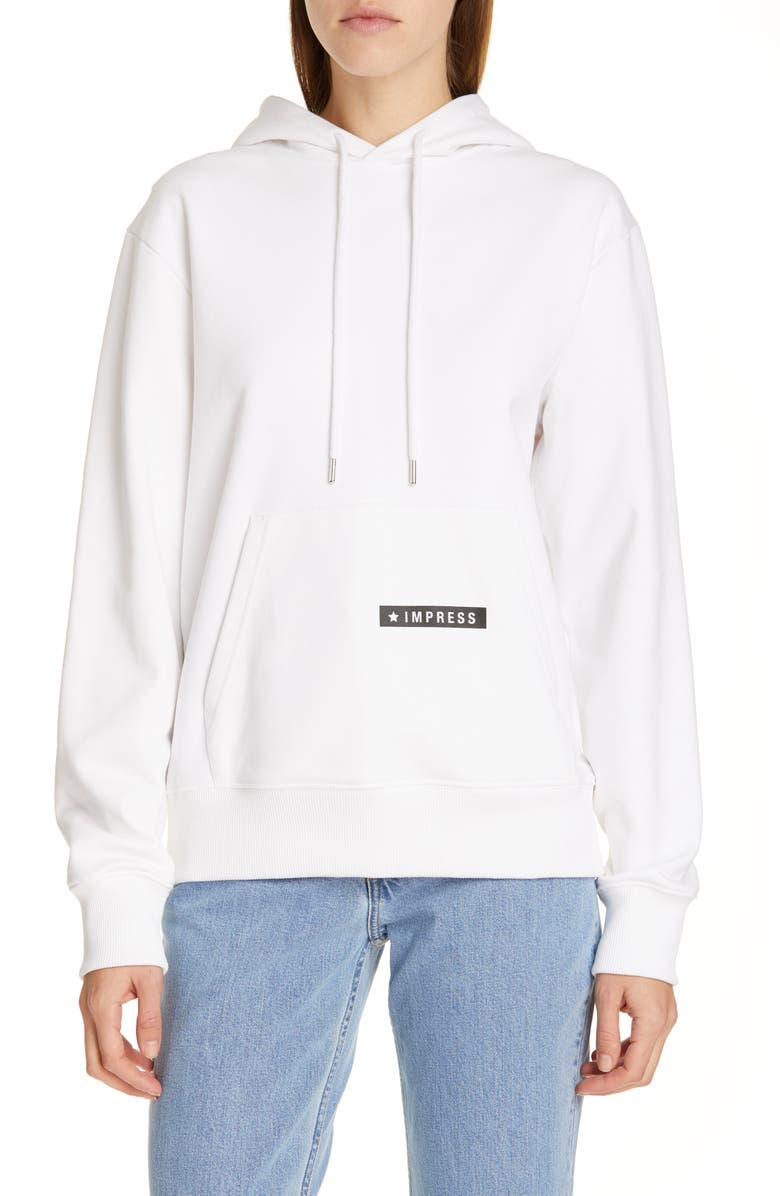 HELMUT LANG Worldwide Hoodie, Main, color, CHALK WHITE