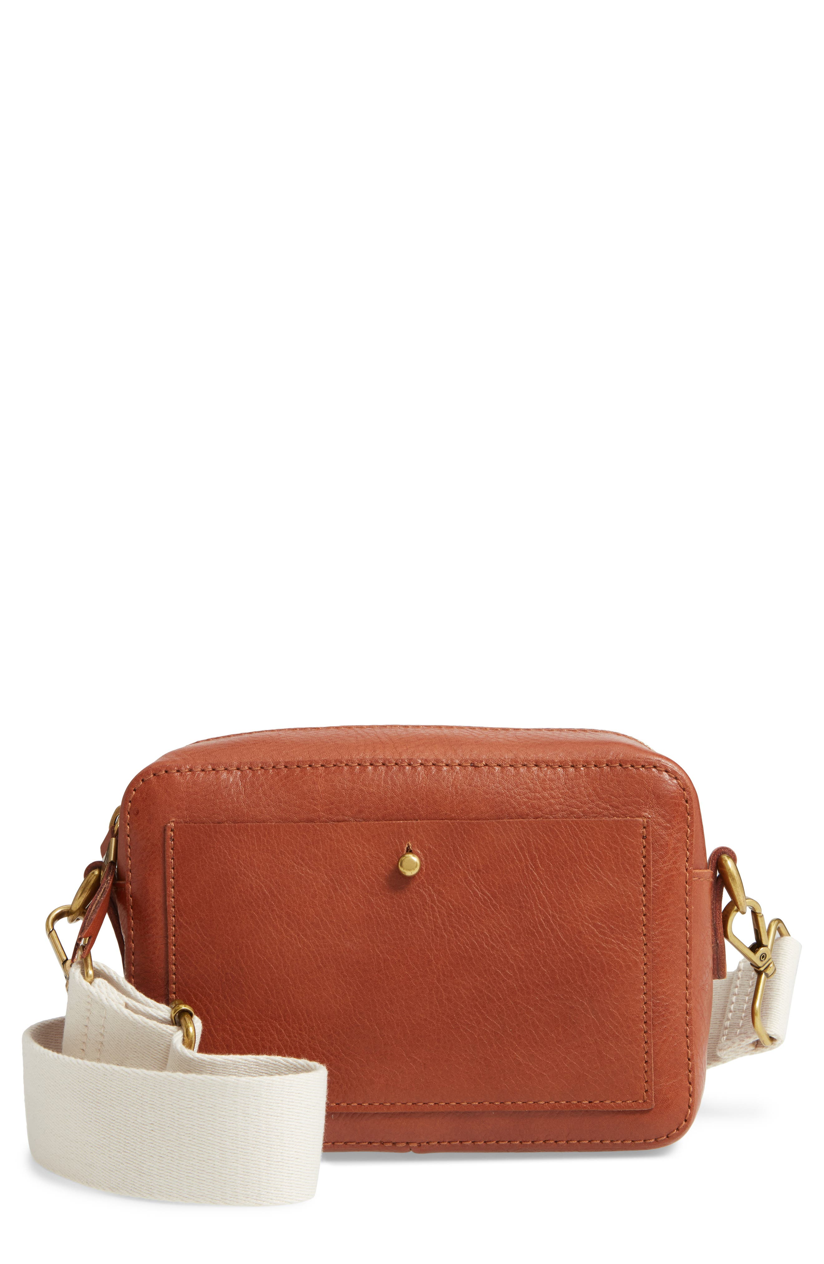 Part of Madewell\\\'s signature Transport collection, this structured shoulder bag is cool, convenient and customizable with two strap styles to choose from. Picture-perfectly sized to hold your keys, wallet, lip balm and smartphone-or, you know, a disposable camera. Style Name: Madewell The Transport Camera Bag. Style Number: 5885787. Available in stores.