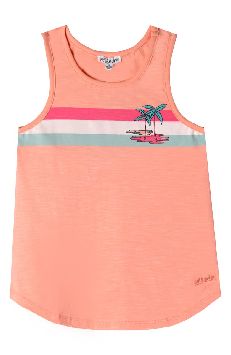 ART & EDEN Uri Tank Top, Main, color, PEACH