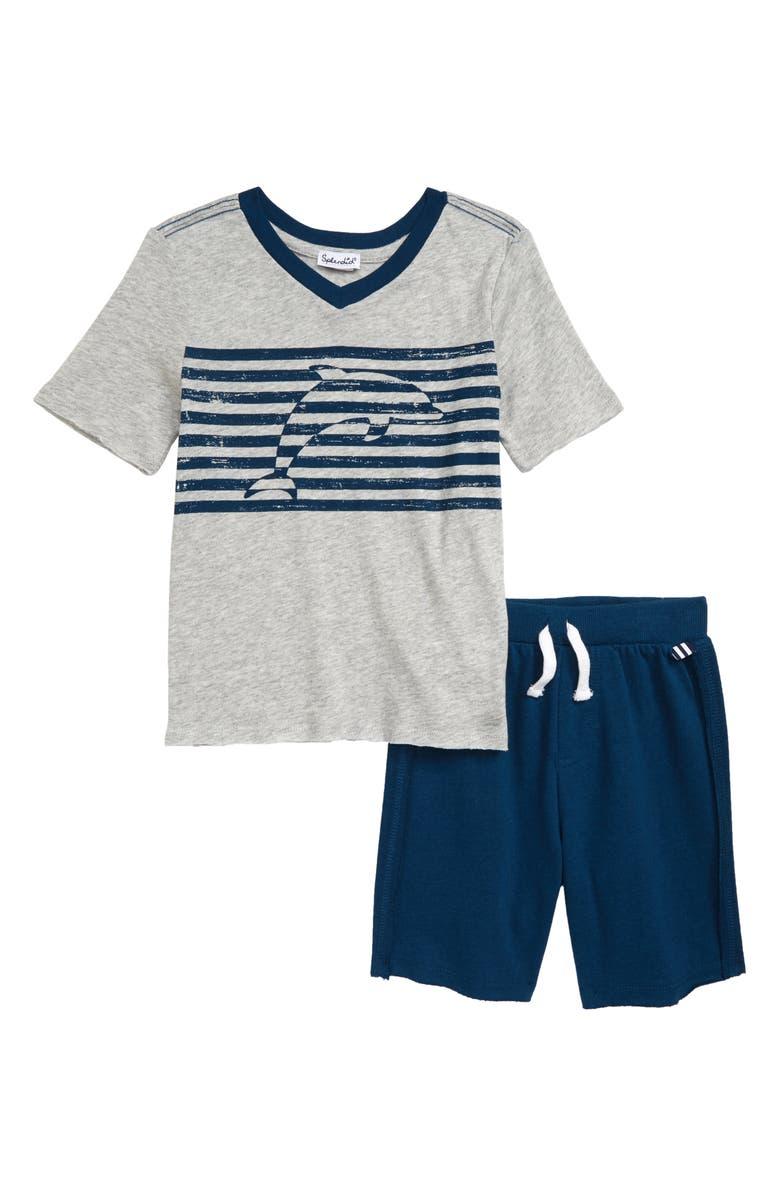 0d99aa121 Splendid Dolphin Stripe T-Shirt & Shorts Set (Toddler Boys & Little ...