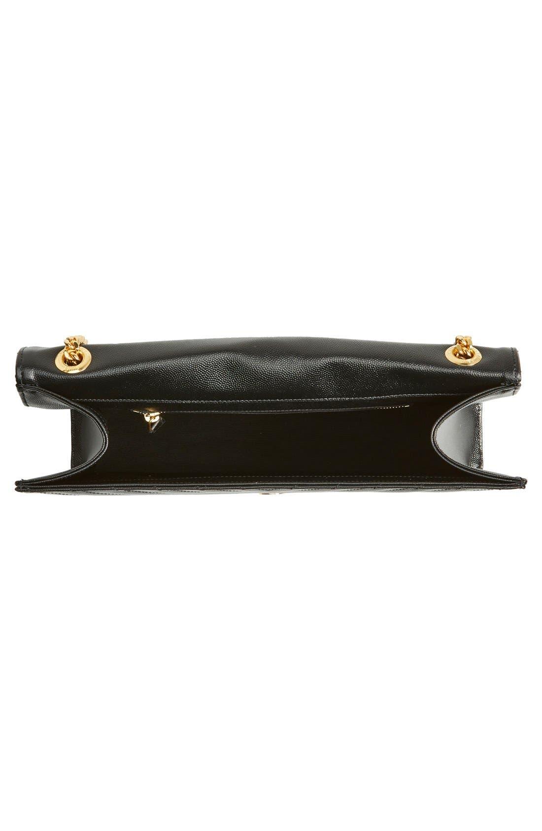,                             'Large Monogram' Grained Leather Shoulder Bag,                             Alternate thumbnail 8, color,                             001