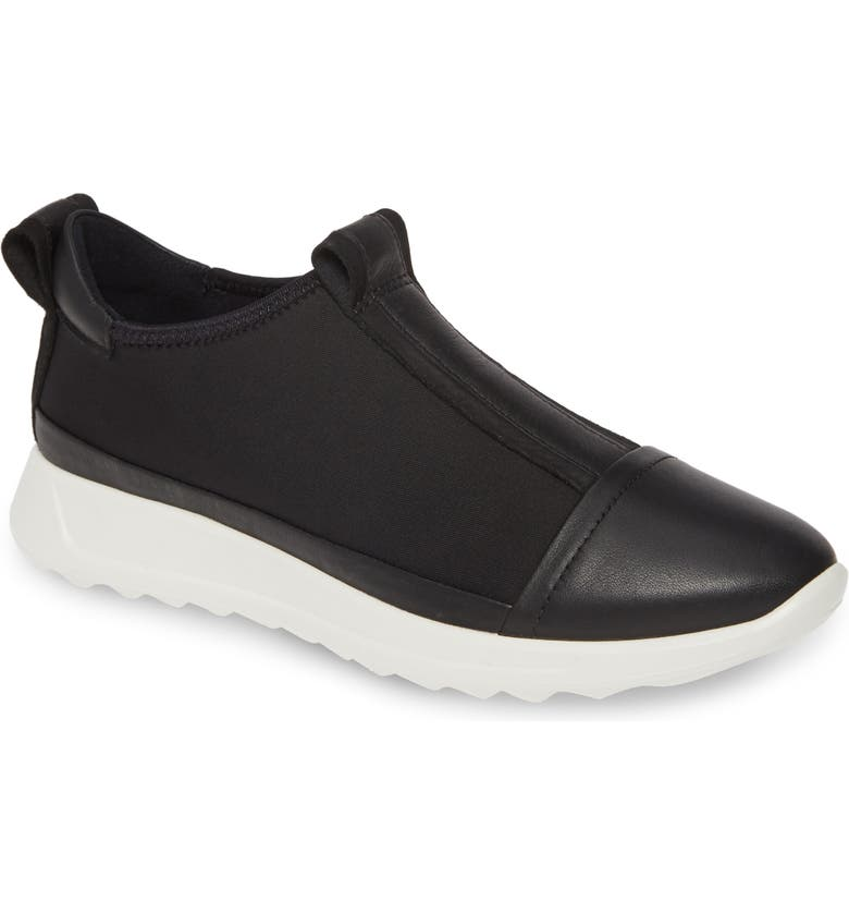 ECCO Flexure Running Shoe, Main, color, BLACK LEATHER