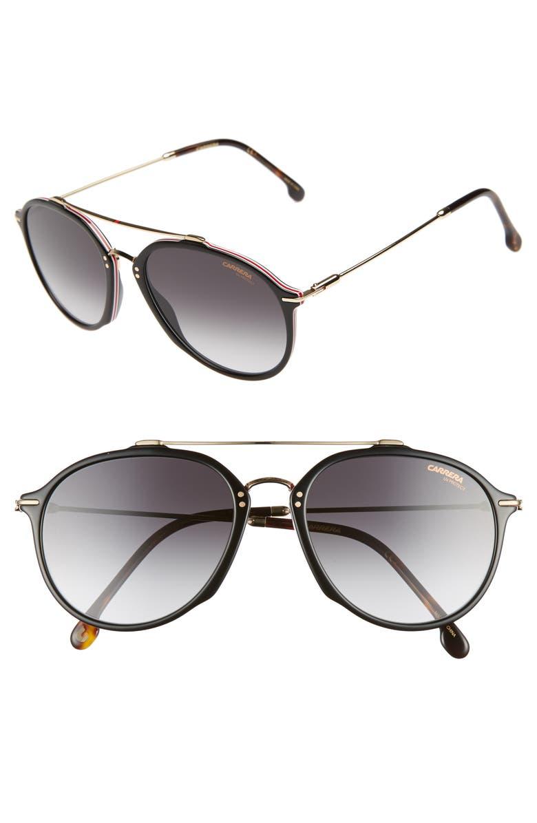CARRERA EYEWEAR 55mm Round Sunglasses, Main, color, 003