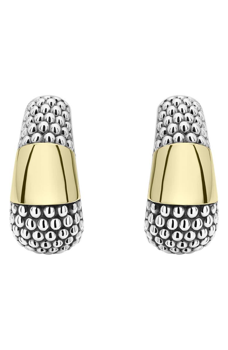 LAGOS High Bar Two-Tone Earrings, Main, color, SILVER