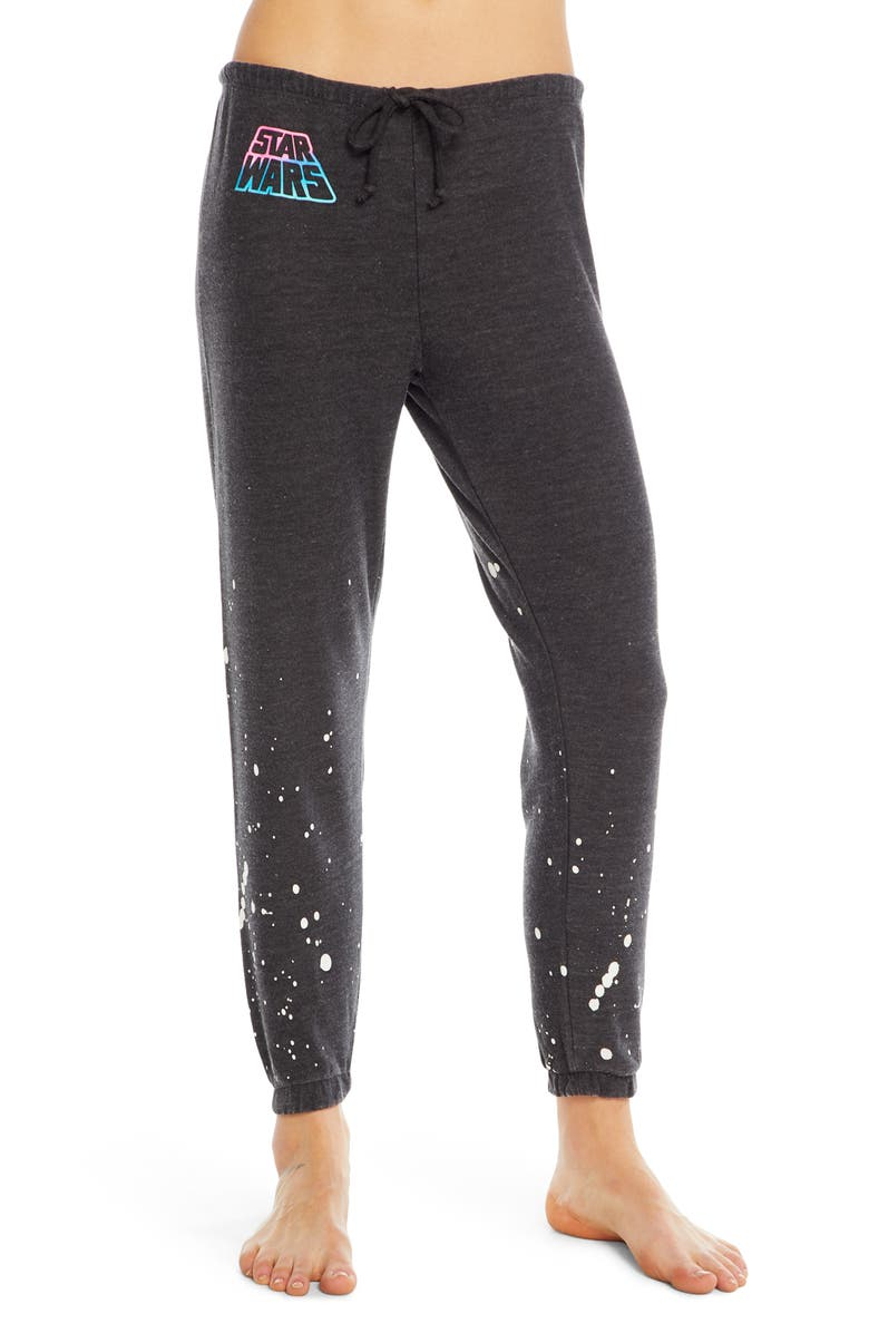 CHASER Star Wars Cozy Knit Lounge Jogger Pants, Main, color, BLACK