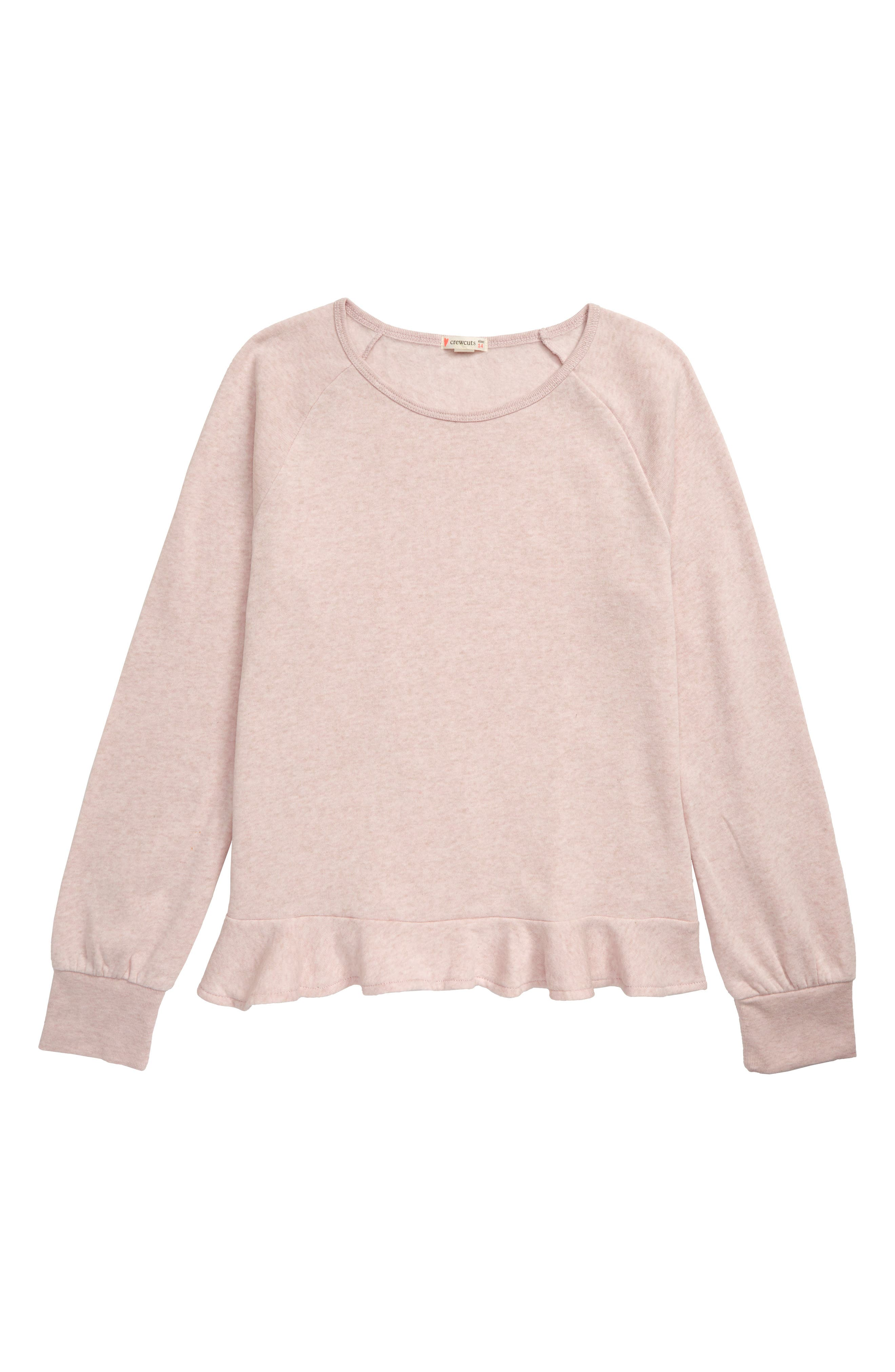 Toddler Girls Crewcuts By Jcrew Ruffle Trimmed Sweatshirt Size 2T  Pink