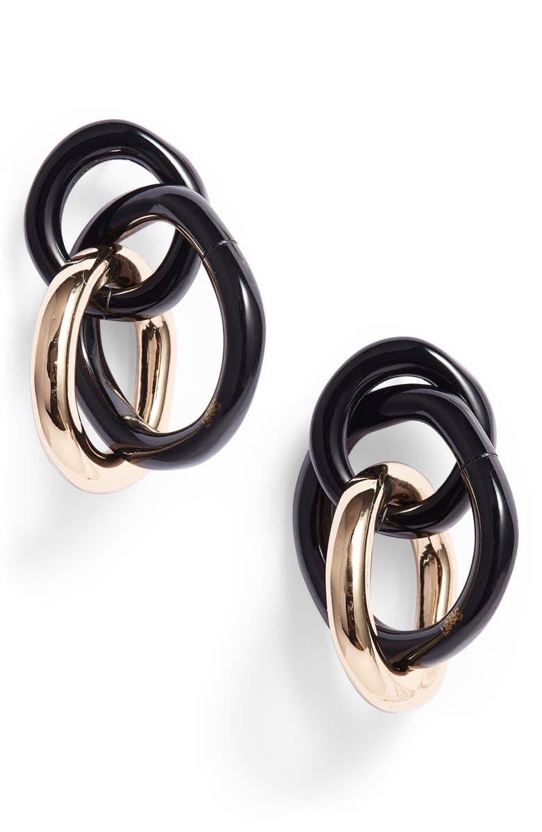 LELE SADOUGHI Triple Ring Earrings, Main, color, 001