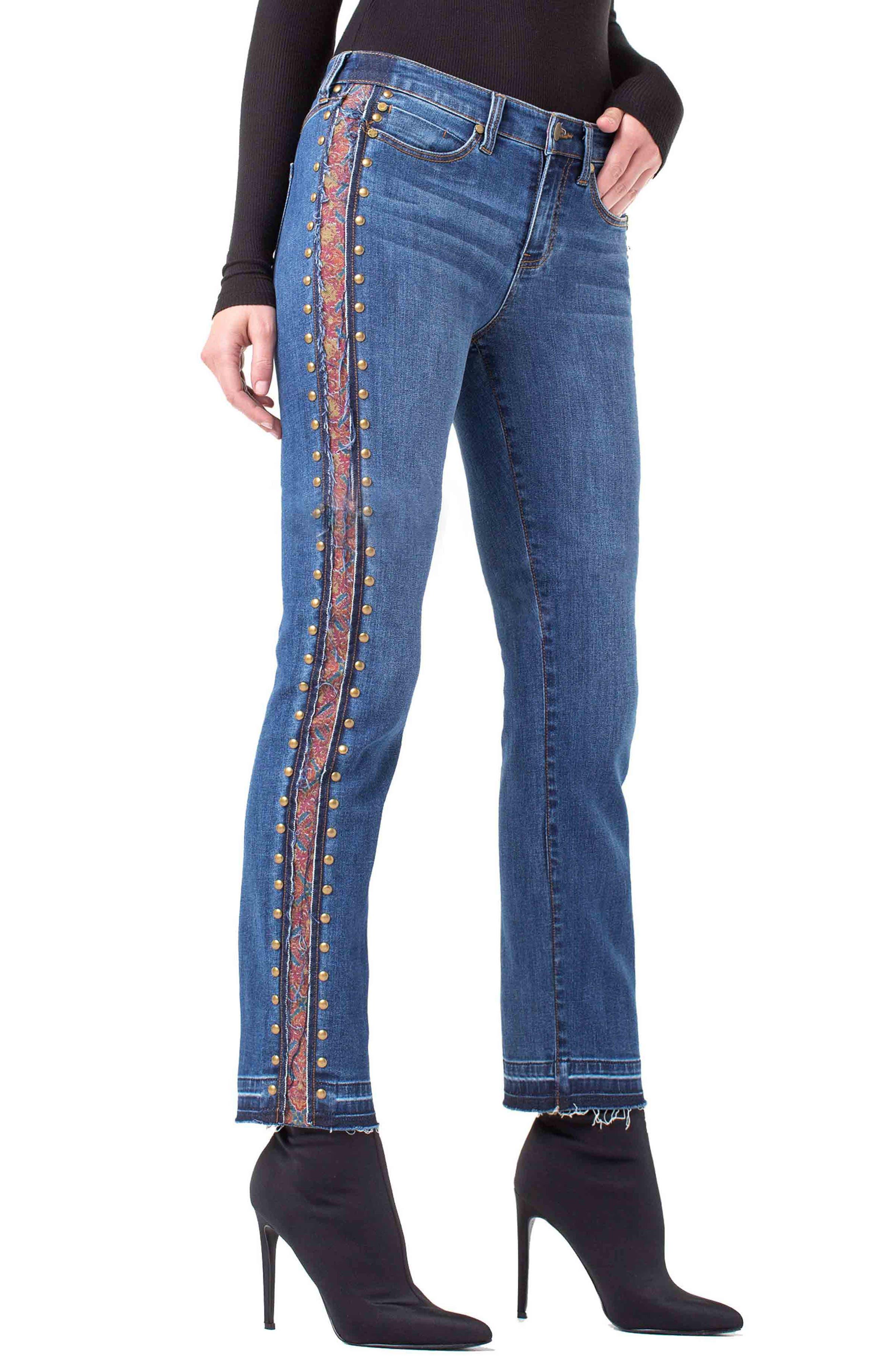 ,                             Colette Embellished Ankle Jeans,                             Alternate thumbnail 3, color,                             403