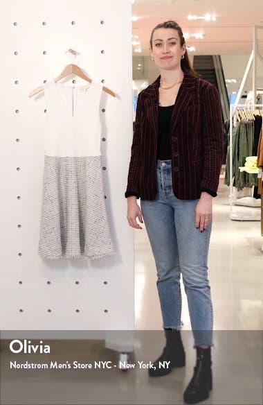 Adalad Mixed Media Sleeveless Fit & Flare Dress, sales video thumbnail