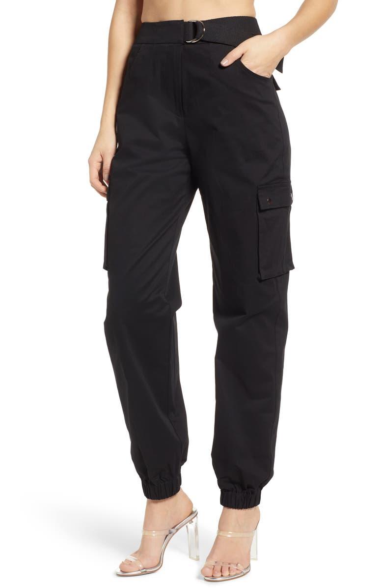 TIGER MIST Aliyah Cargo Pants, Main, color, 001