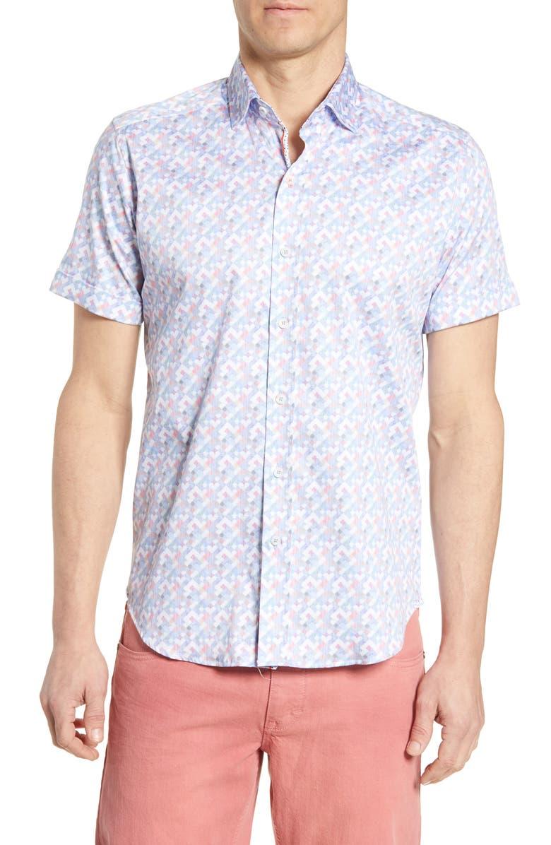 ROBERT GRAHAM Tailored Fit Banner Sport Shirt, Main, color, 400