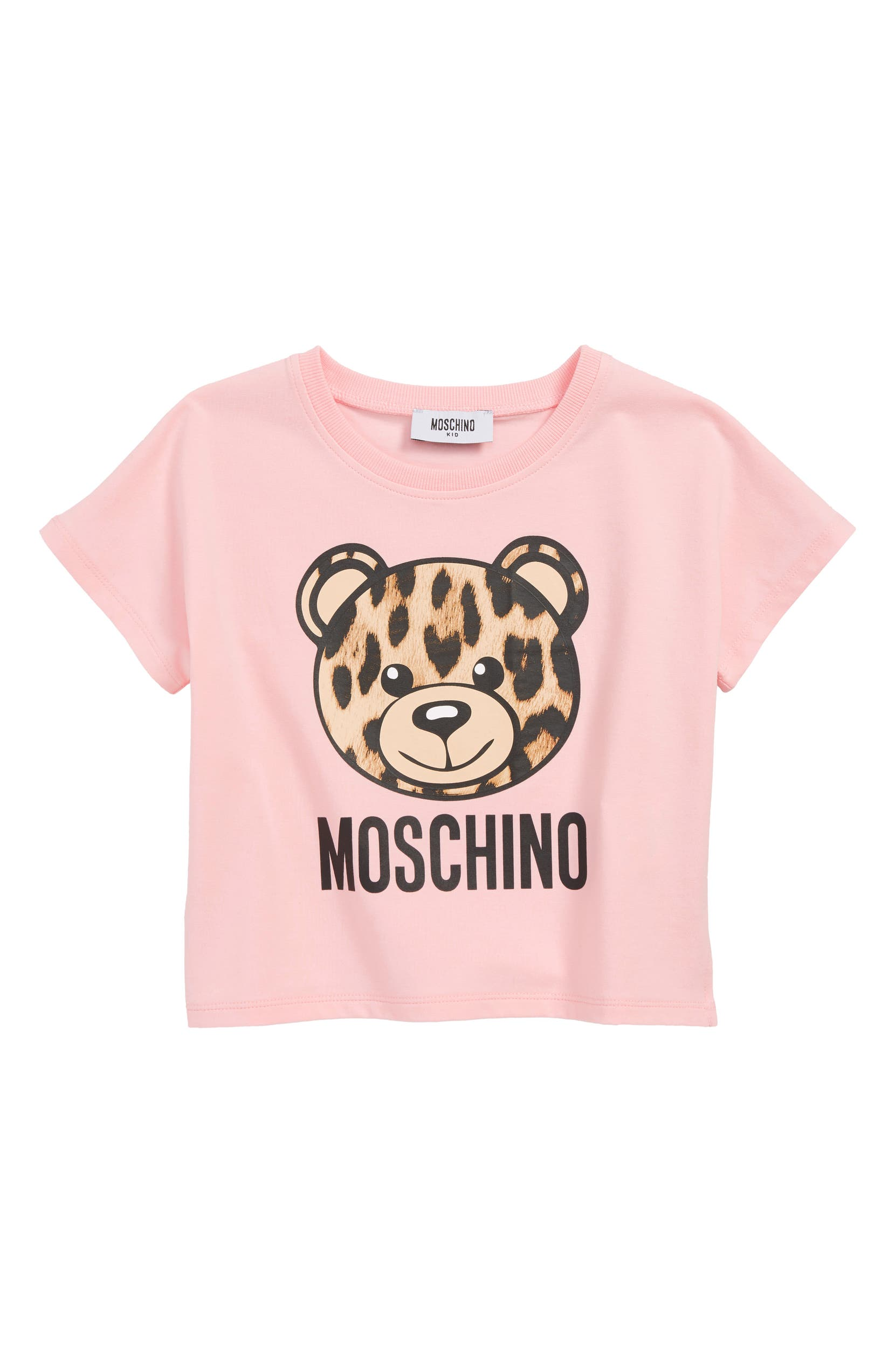 46bd0bf7d Moschino Leopard Print Bear Logo Tee (Little Girls & Big Girls) | Nordstrom