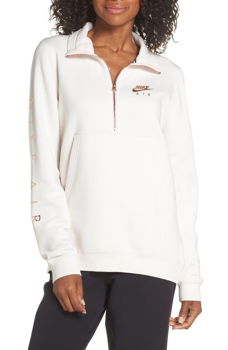 NIKE Air Quarter Zip Fleece Top, Main, color, 030