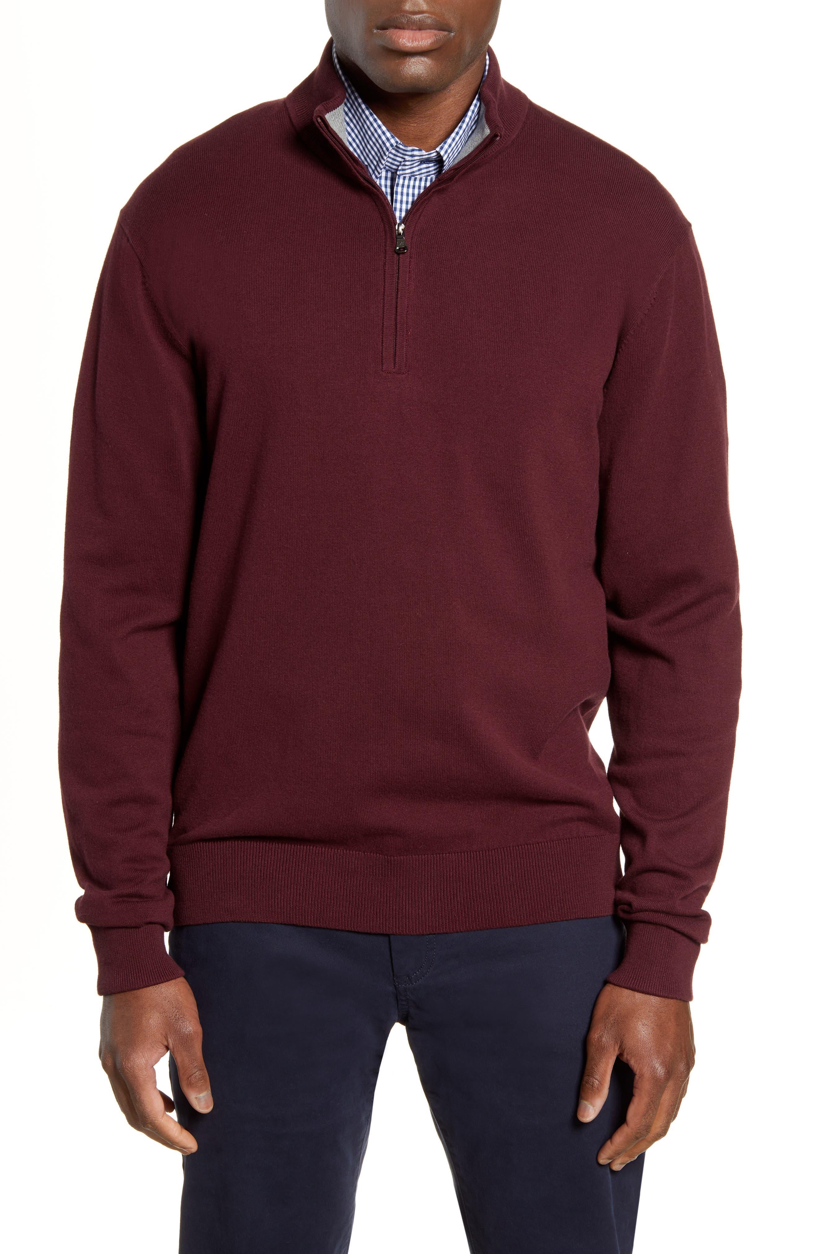 Cutter & Buck Lakemont Half Zip Sweater, Red