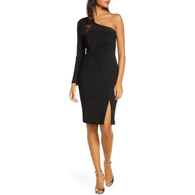 Vince Camuto One-Sleeve Ruched Cocktail Dress, 8 (similar to 1) - Black
