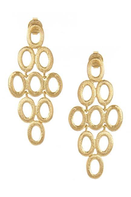 Image of Rivka Friedman 18K Gold Clad Satin Post Earrings