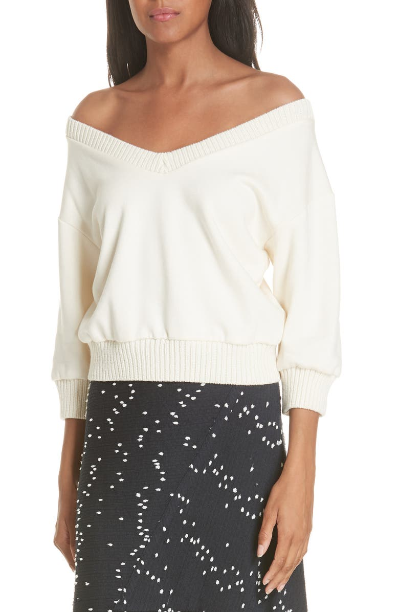 75e3343007b3c0 3.1 Phillip Lim French Terry Crop Sweater (Nordstrom Exclusive ...