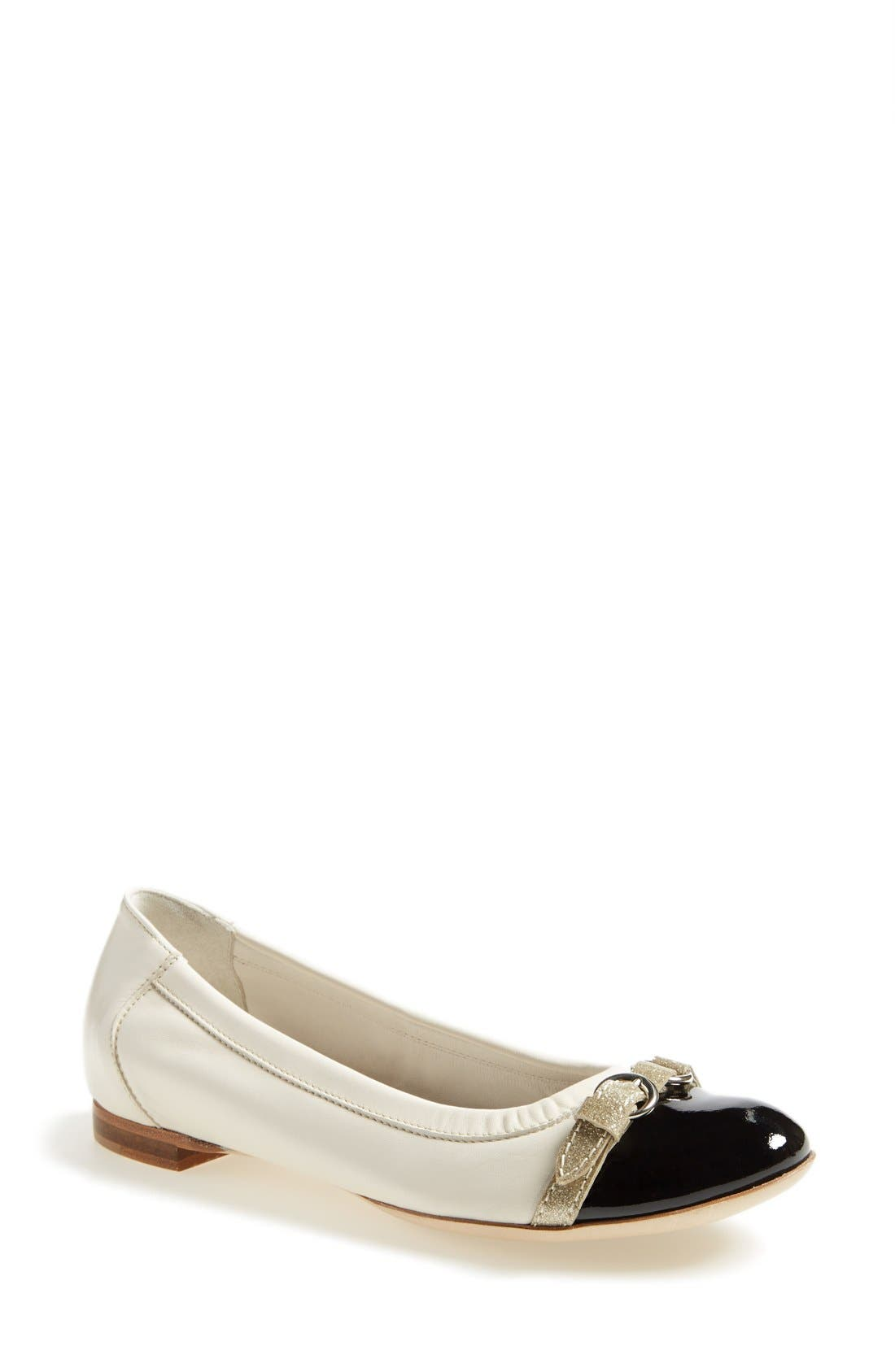 ,                             Cap Toe Ballet Flat,                             Main thumbnail 236, color,                             002
