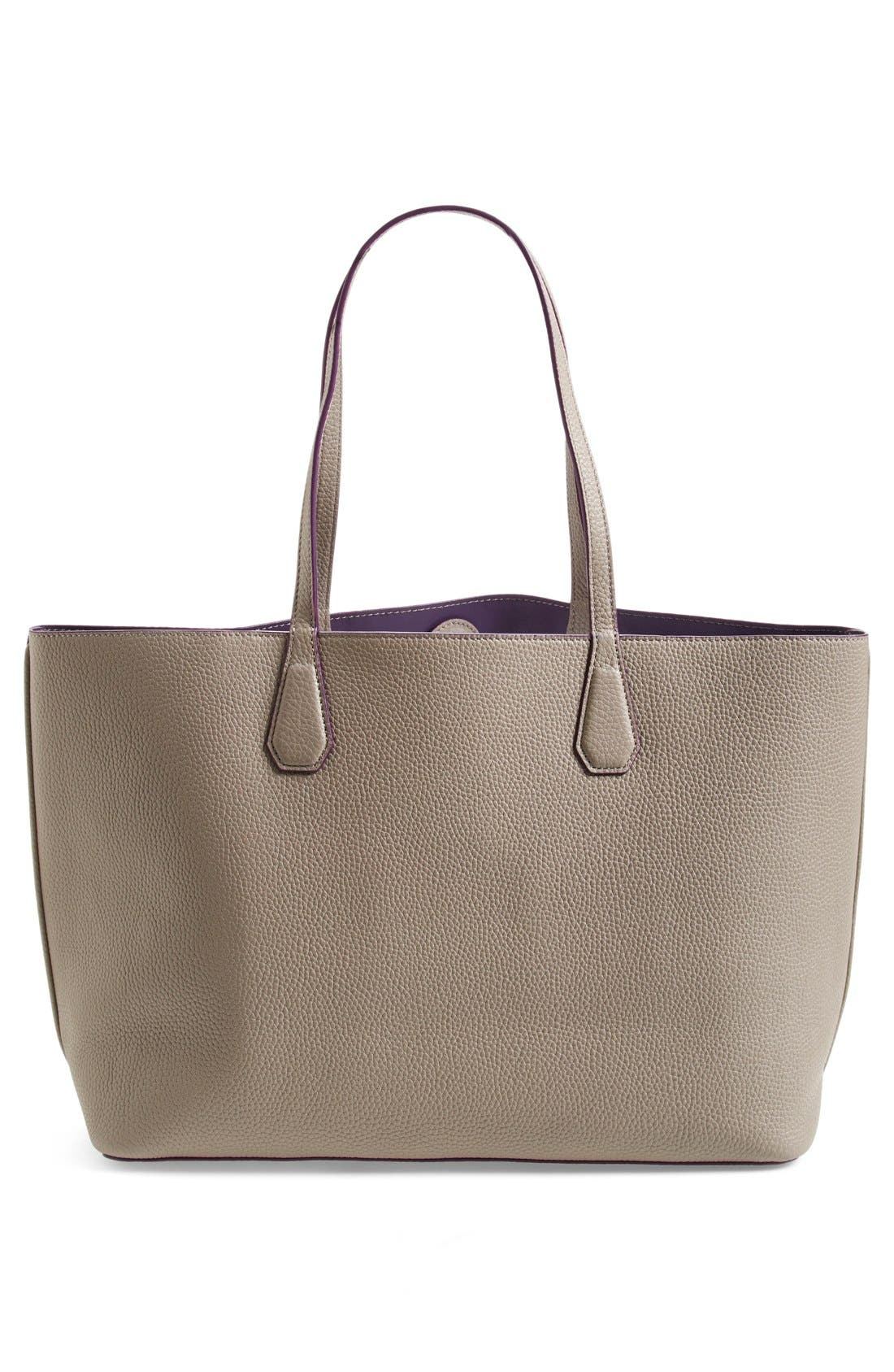 ,                             'Perry' Leather Tote,                             Alternate thumbnail 8, color,                             020