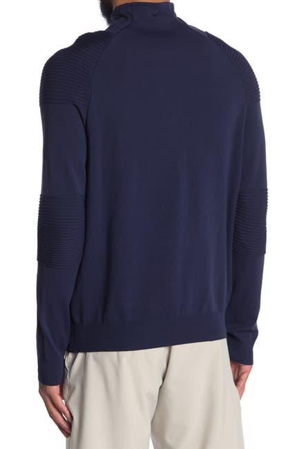 Image of CALLAWAY GOLF Midweight Mixed Partial Zip Jacket