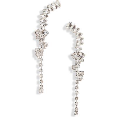 Cristabelle Drop Crystal Crawler Earrings