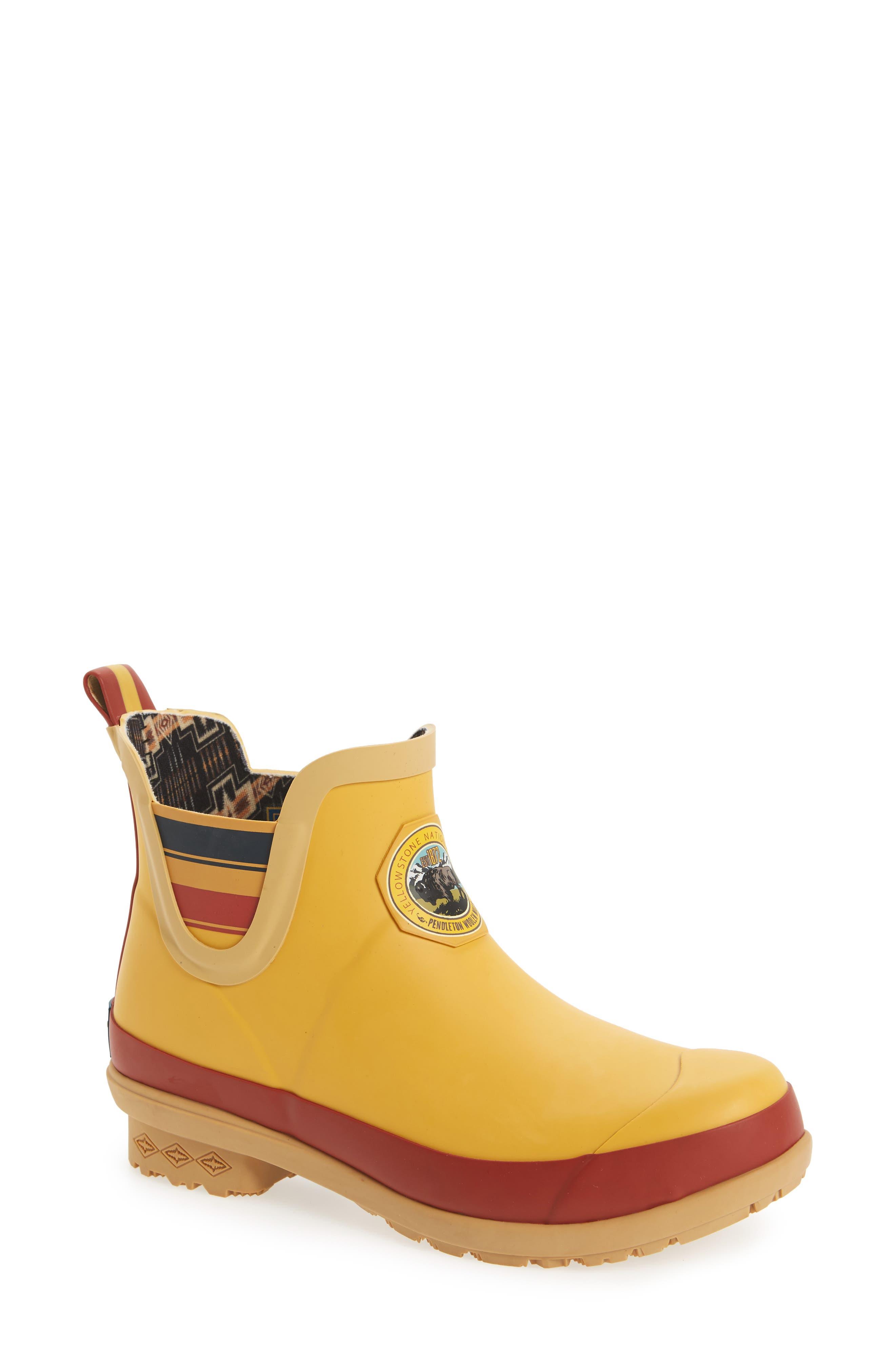 ,                             Yellowstone National Park Chelsea Waterproof Rain Boot,                             Main thumbnail 1, color,                             YELLOW