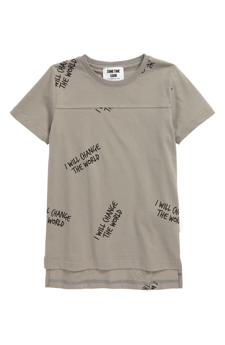 SOMETIME SOON Milos Organic Cotton T-Shirt, Main, color, 020