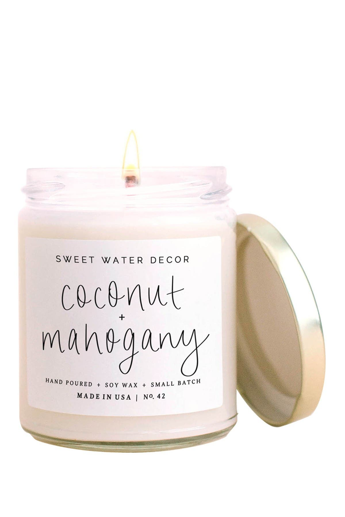 Image of SWEET WATER DECOR Coconut Mahogany 9 oz. Soy Candle - Set of 2