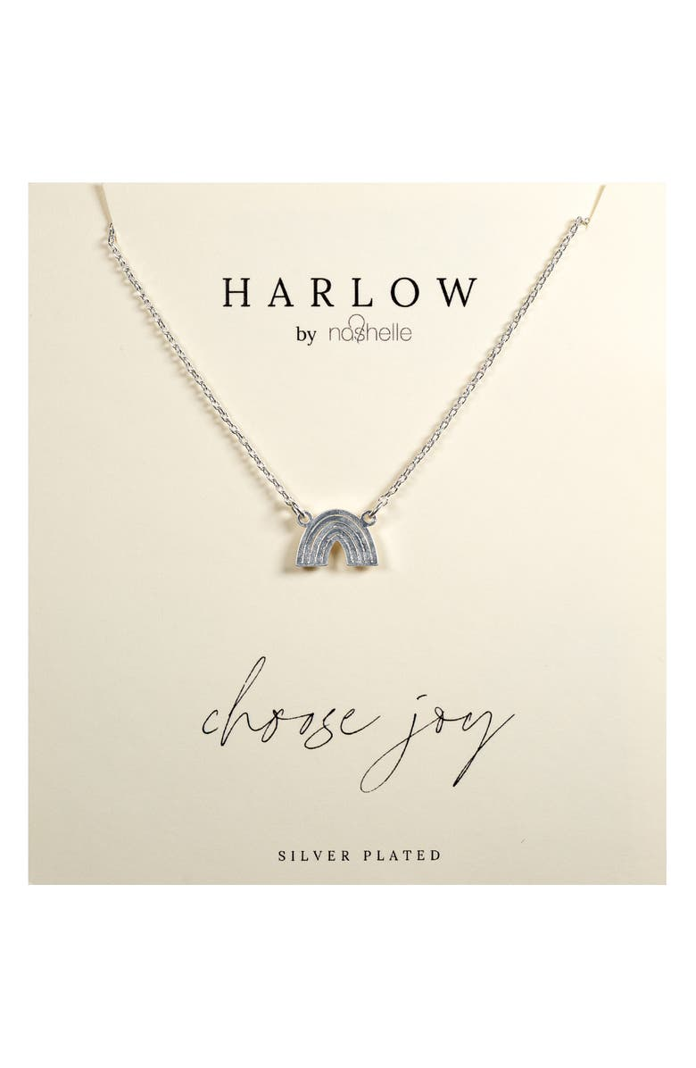 NASHELLE HARLOW by Nashelle Rainbow Boxed Necklace, Main, color, SILVER