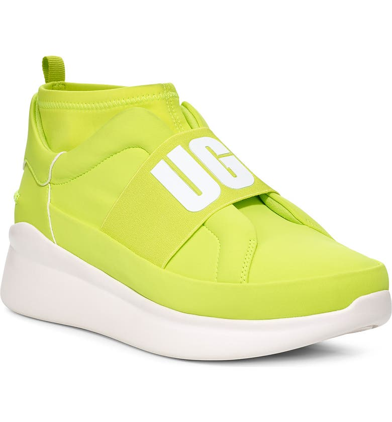 UGG<SUP>®</SUP> Neutra Sock Sneaker, Main, color, NEON YELLOW