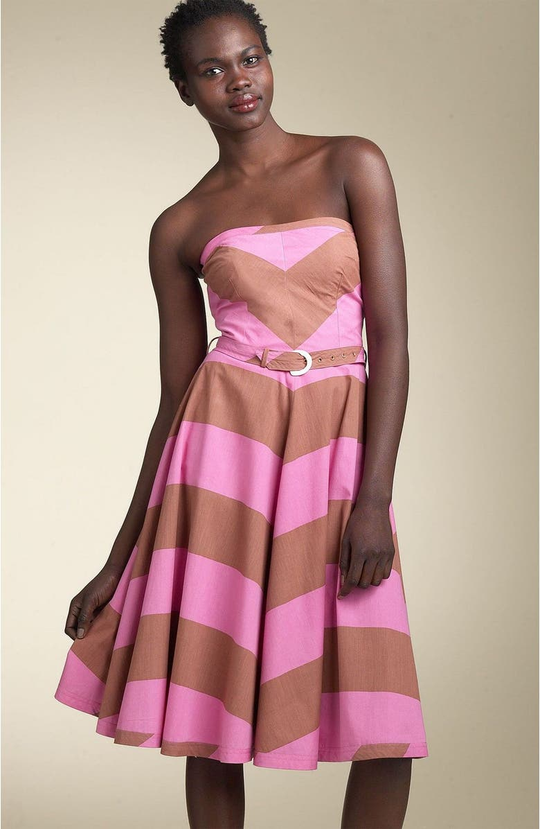 PLENTY BY TRACY REESE Strapless Flared Dress, Main, color, 612
