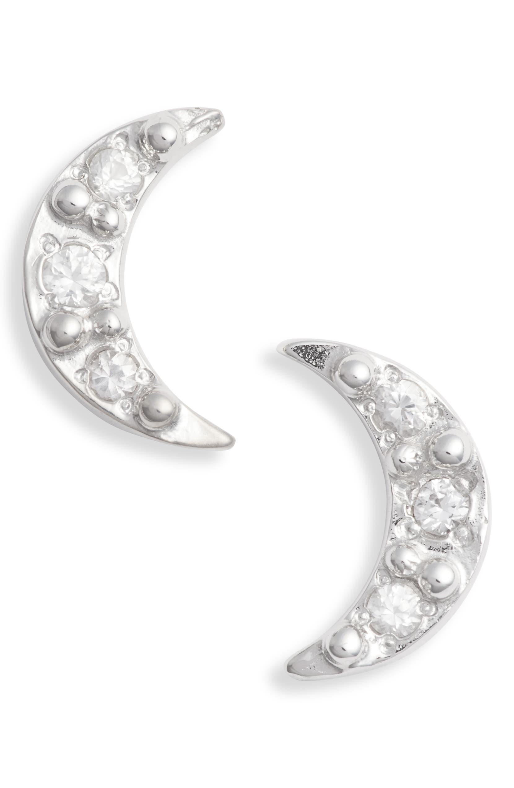 054b1e0896755 Anzie Mini Moon Stud Earrings   Nordstrom