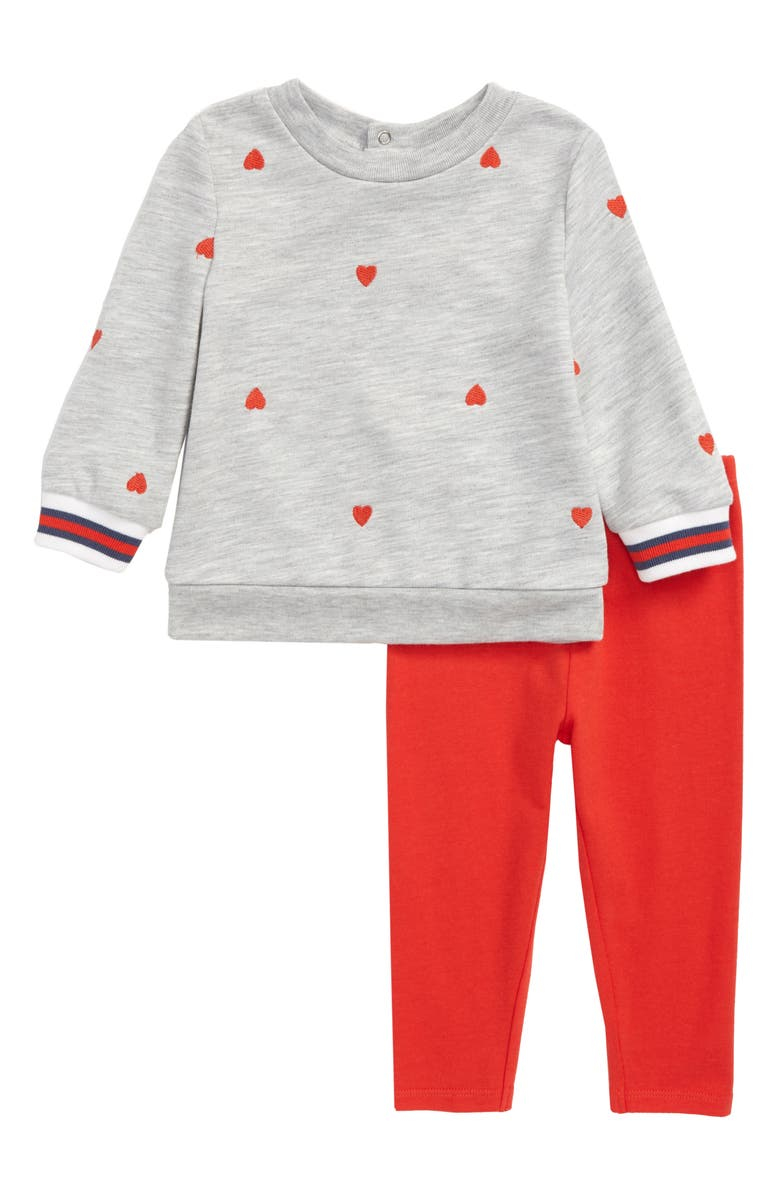 SPLENDID Schiffli Heart Sweatshirt & Leggings Set, Main, color, 051