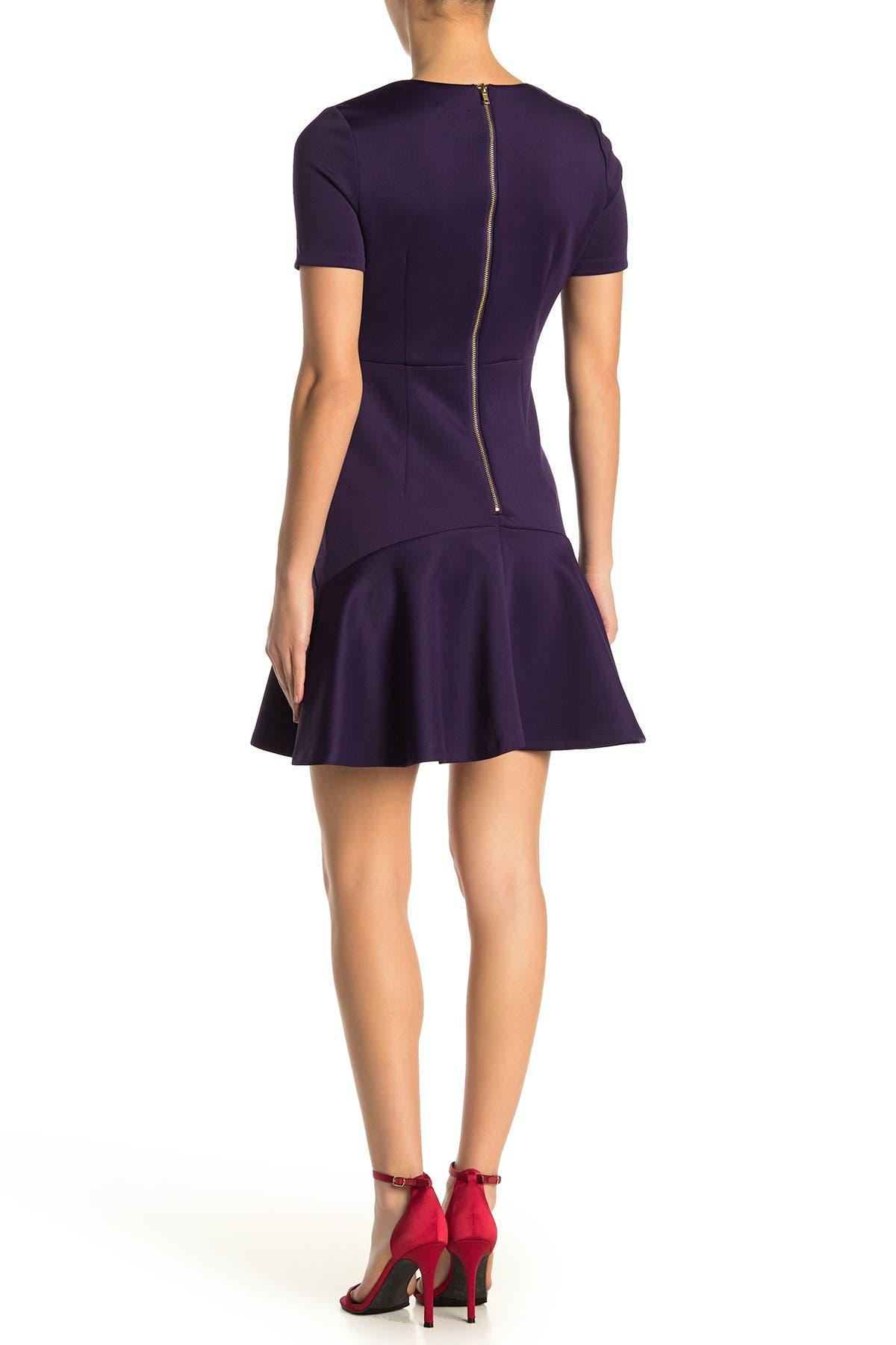Image of Alexia Admor Monica Ruffle Hem Dress
