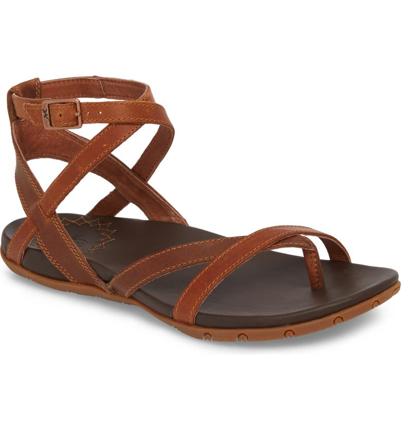 CHACO Juniper Sandal, Main, color, RUST LEATHER