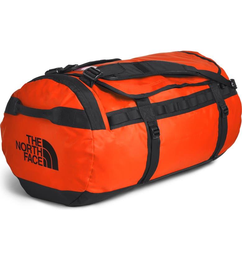 THE NORTH FACE Base Camp Large Duffle Bag, Main, color, PERSIAN ORANGE/BLACK