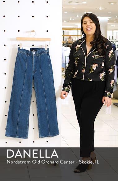 Nicolette Pintuck Crop Flare Jeans, sales video thumbnail