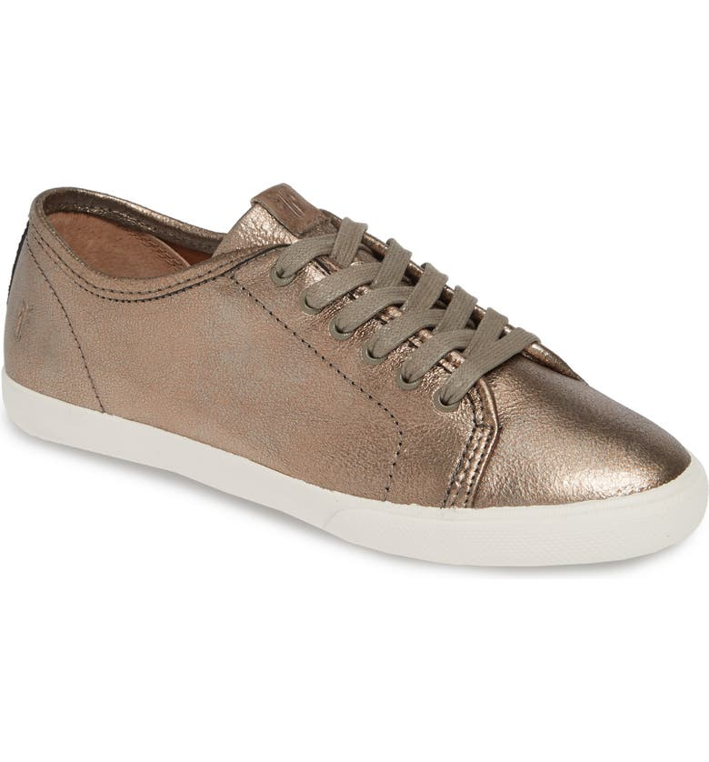 FRYE Maya Low Top Sneaker, Main, color, GOLDEN SILVER