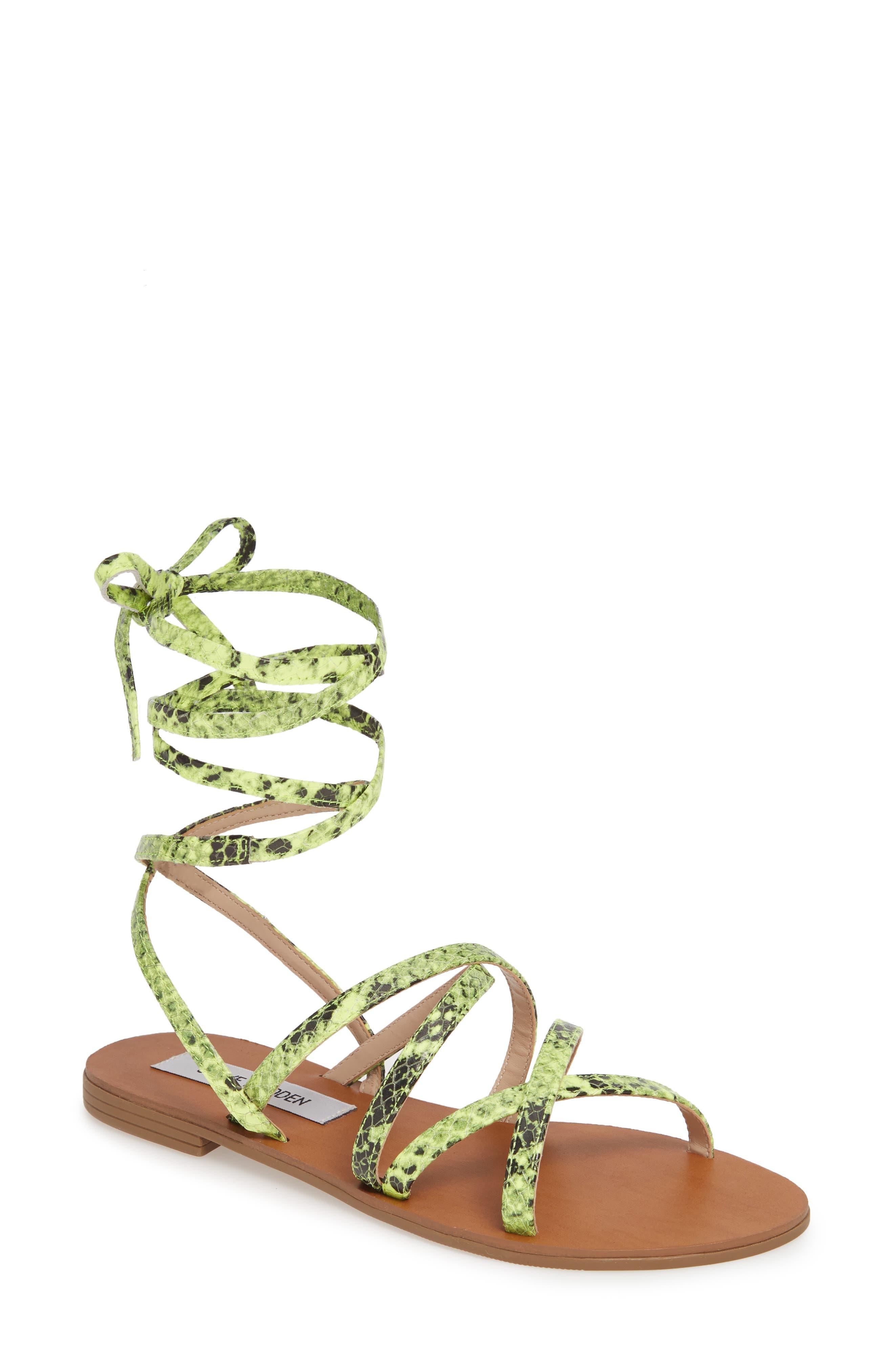 Steve Madden Carmen Strappy Ankle Wrap Sandal (Women)