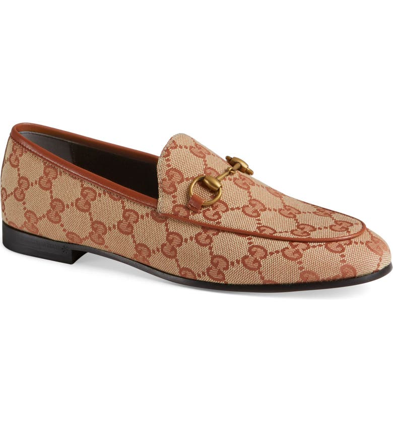 GUCCI New Jordaan Loafer, Main, color, BEIGE