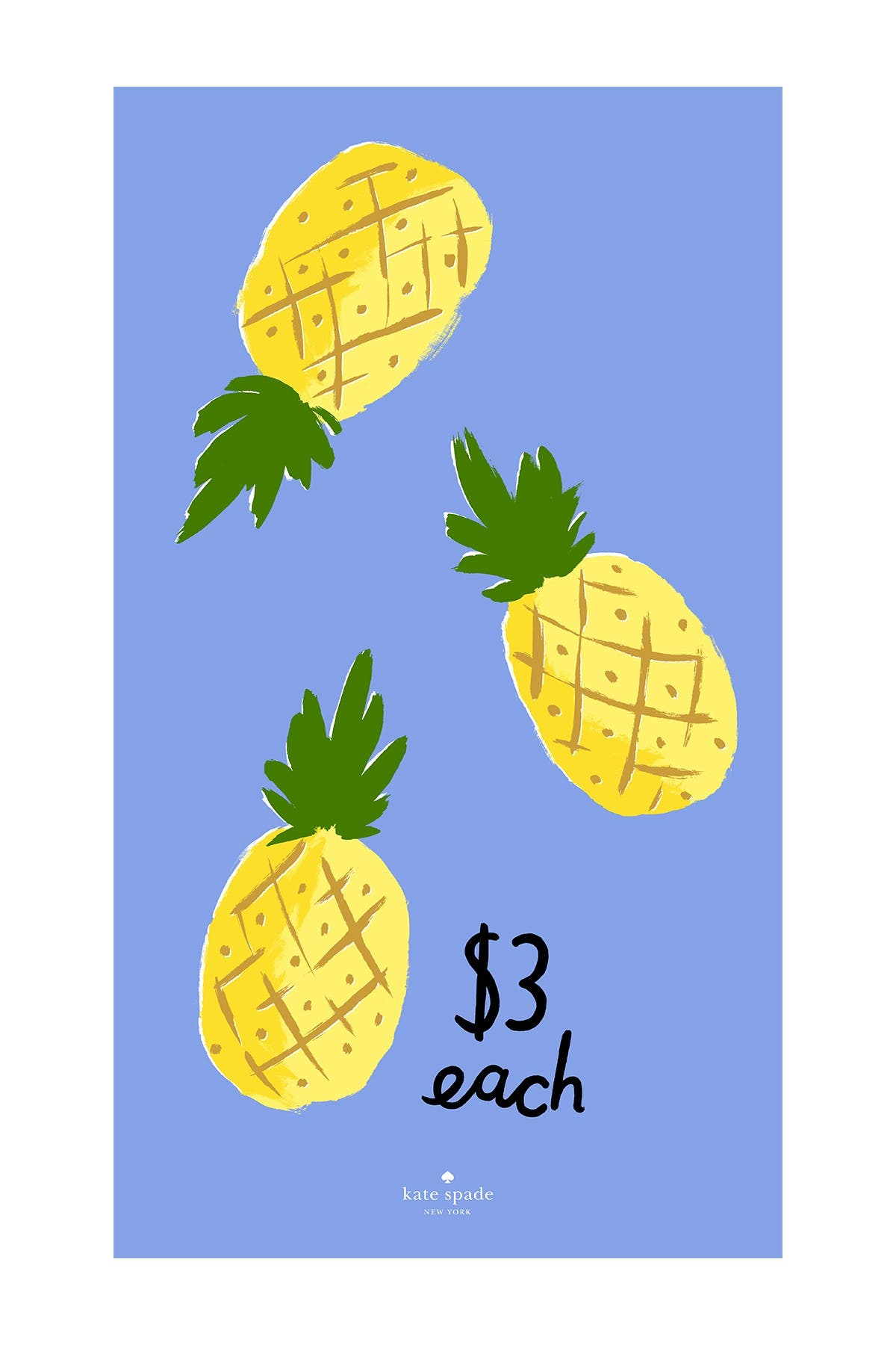 Image of kate spade new york pineapple beach towel - multi