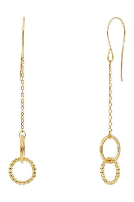 Image of Bony Levy 14K Yellow Gold Interlocking Circle Drop Earrings