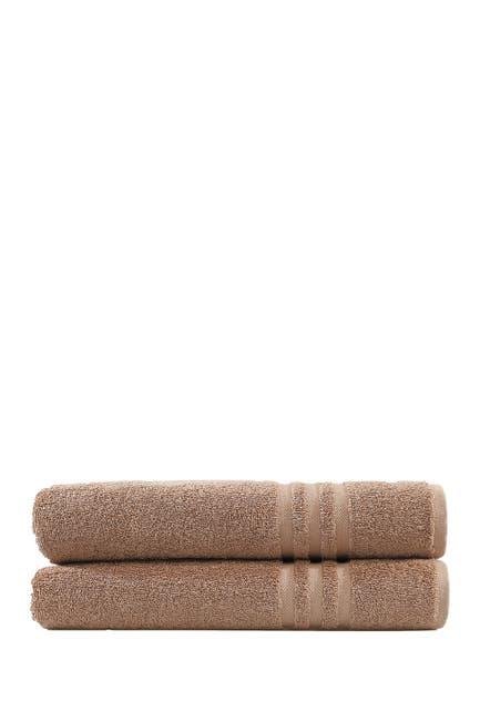 Image of LINUM HOME Denzi Bath Towels - Set of 2 - Latte