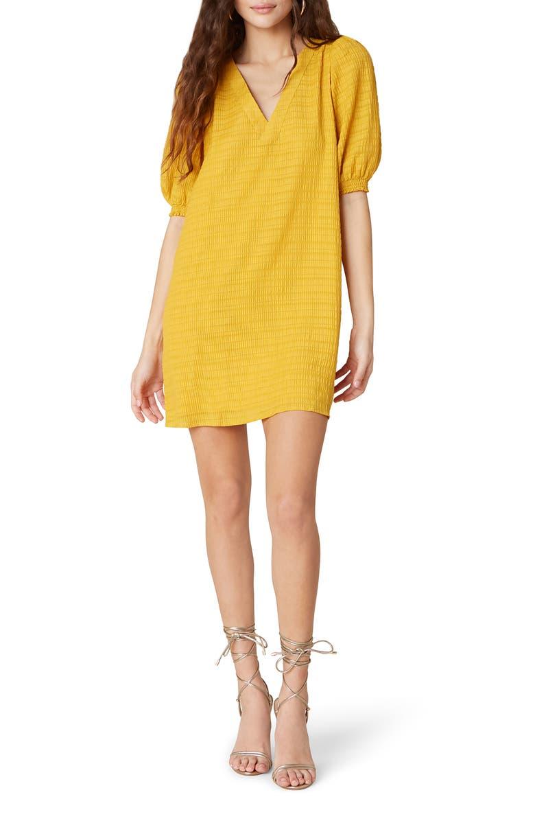 BB DAKOTA Fields of Gold Shift Dress, Main, color, SUNNY YELLOW