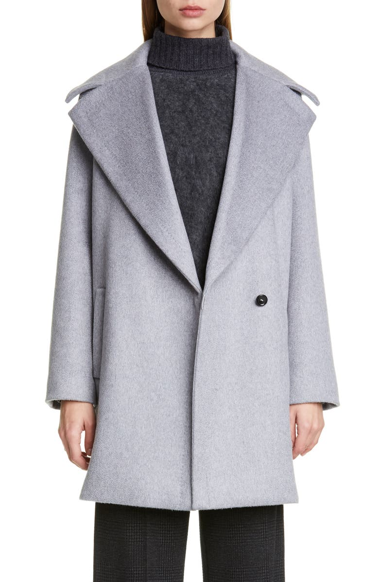 MAX MARA Uomo Cashmere Coat, Main, color, LIGHT GREY