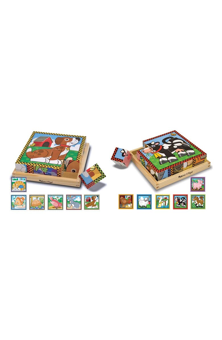 MELISSA & DOUG Cube Puzzles, Main, color, BROWN
